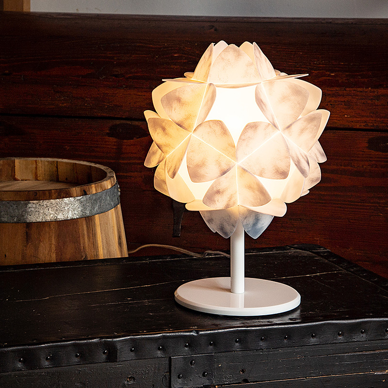 Cotton smal table lamp
